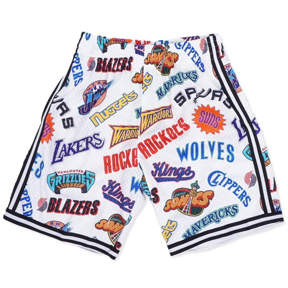 NBA ショートパンツ/ショーツ オールオーバー ウエスタン スウィングマン ミッチェル&ネス/Mitchell & Ness ホワイト