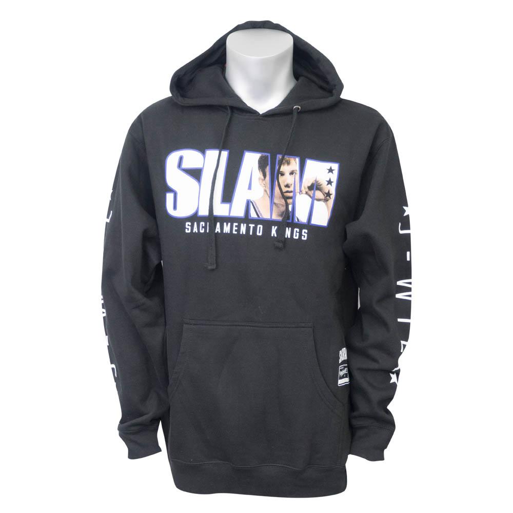 NBA キングス ジェイソン・ウィリアムス パーカー/フーディー SLAM/スラム 表紙ロゴ Mitchell & Ness ブラック