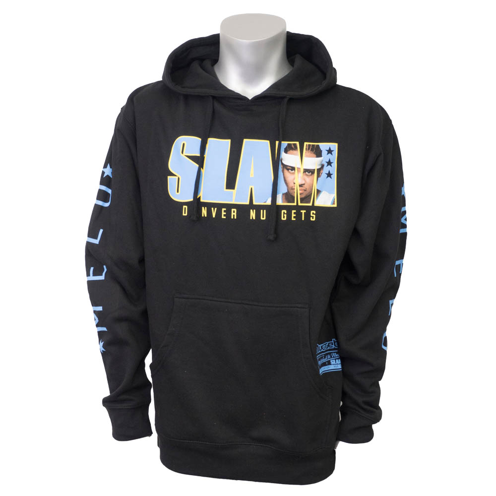NBA ナゲッツ カーメロ・アンソニー パーカー/フーディー SLAM/スラム 表紙ロゴ Mitchell & Ness ブラック