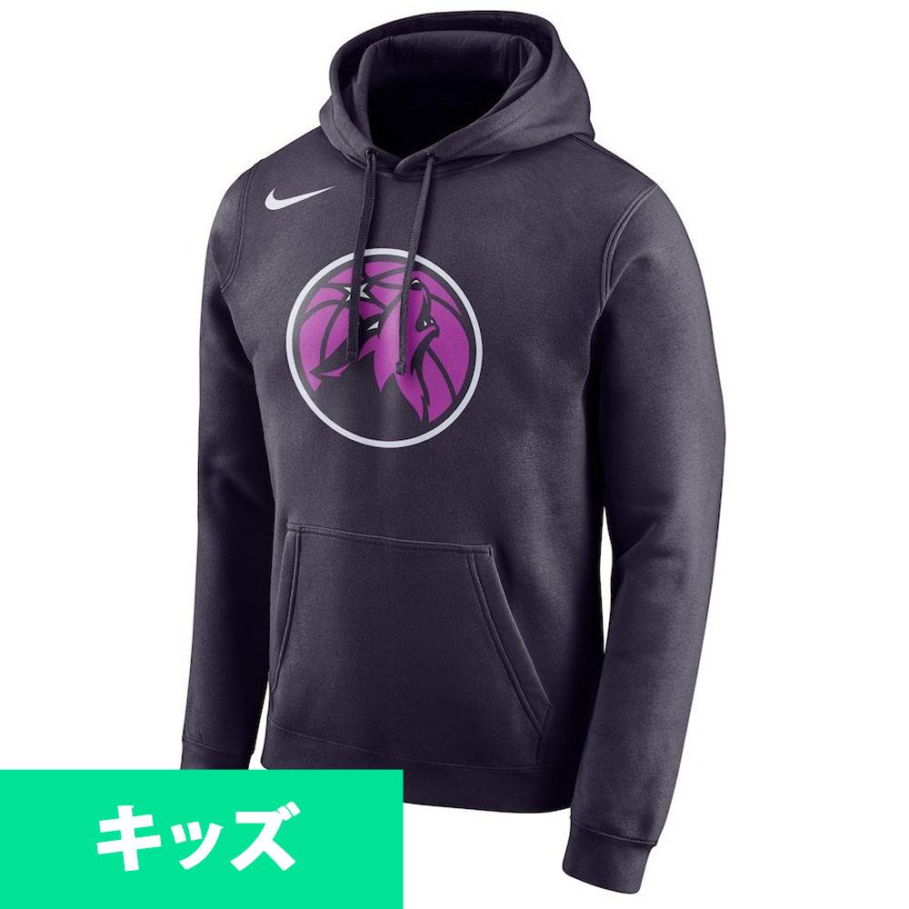 NBA ティンバーウルブズ パーカー/フーディー ユース シティ エディション エッセンシャル ロゴ ナイキ/Nike ネイビー