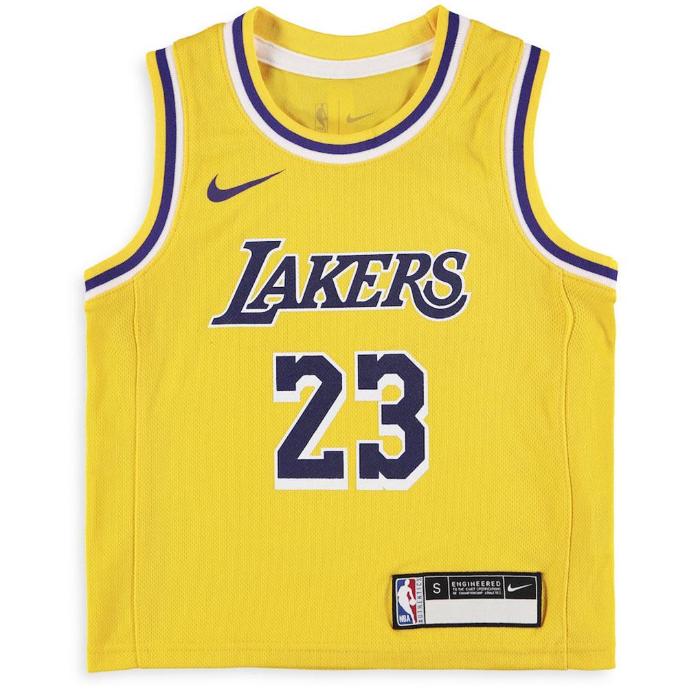 3cfe0ea4e653 NBA Lakers Revlon James uniform   jersey kids icon edition replica Nike  Nike  yellow
