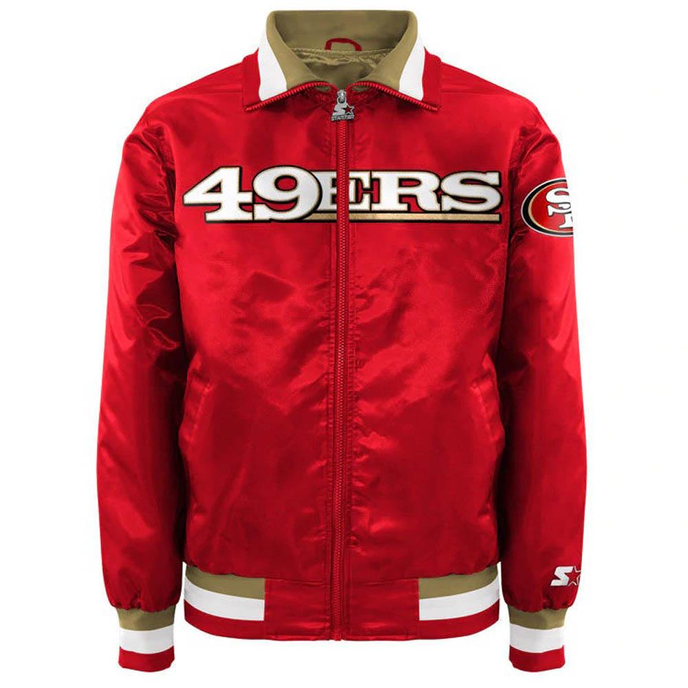 魅了 お取り寄せ お取り寄せ NFL 49ers キャプテン ジャケット NFL/アウター サテン キャプテン メンズ II メンズ スターター/Starter レッド, 出水市:04dd67ea --- konecti.dominiotemporario.com