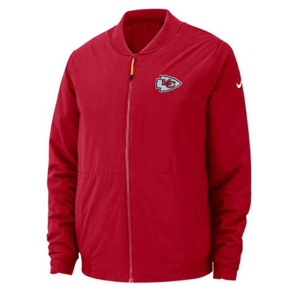 お取り寄せ お取り寄せ NFL チーフス ジャケット/アウター ボンバー メンズ ナイキ/Nike レッド