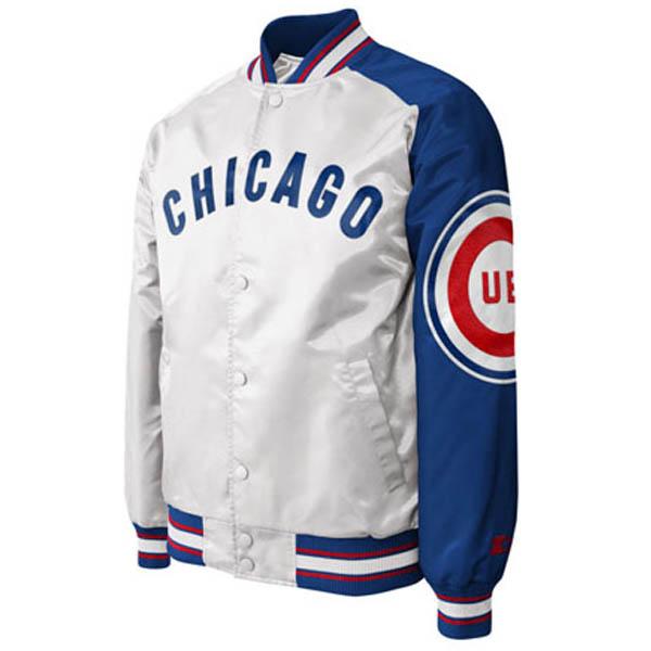 お取り寄せ お取り寄せ MLB カブス ジャケット/アウター サテン ダグアウト ll メンズ STARTER ホワイト