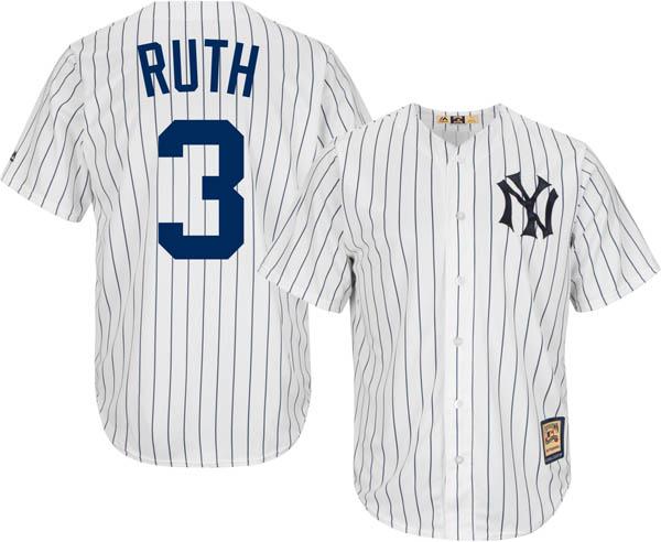 brand new 913f5 75fa6 MLB Yankees Babe Ruth replica uniform / jersey cool base majestic /Majestic  white