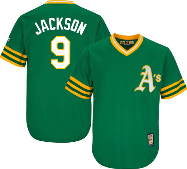 お取り寄せ お取り寄せ MLB アスレチックス レジー・ジャクソン レプリカ ユニフォーム/ジャージ クールベース マジェスティック/Majestic グリーン