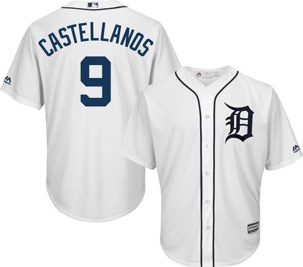 sports shoes 83fc4 c0dbb MLB Tigers Nicholas Castellanos replica uniform / jersey cool base majestic  /Majestic home