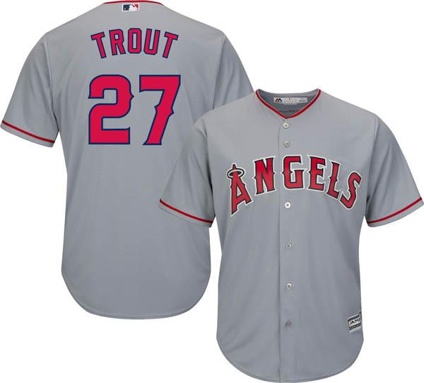 お取り寄せ お取り寄せ MLB エンゼルス マイク・トラウト レプリカ ユニフォーム/ジャージ クールベース マジェスティック/Majestic ロード