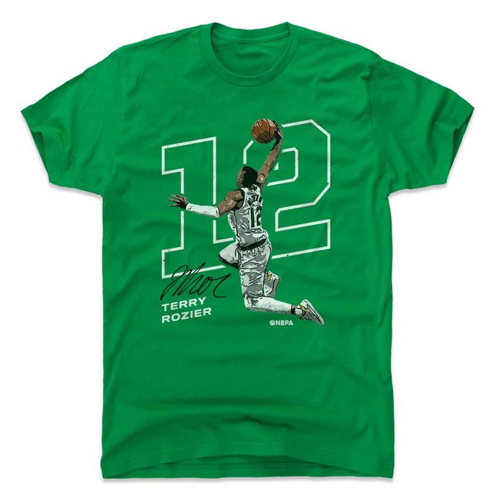 NBA Tシャツ セルティックス テリー・ロジアー プレーヤー アート アウトライン 500Level グリーン【1910価格変更】【1911NBAt】