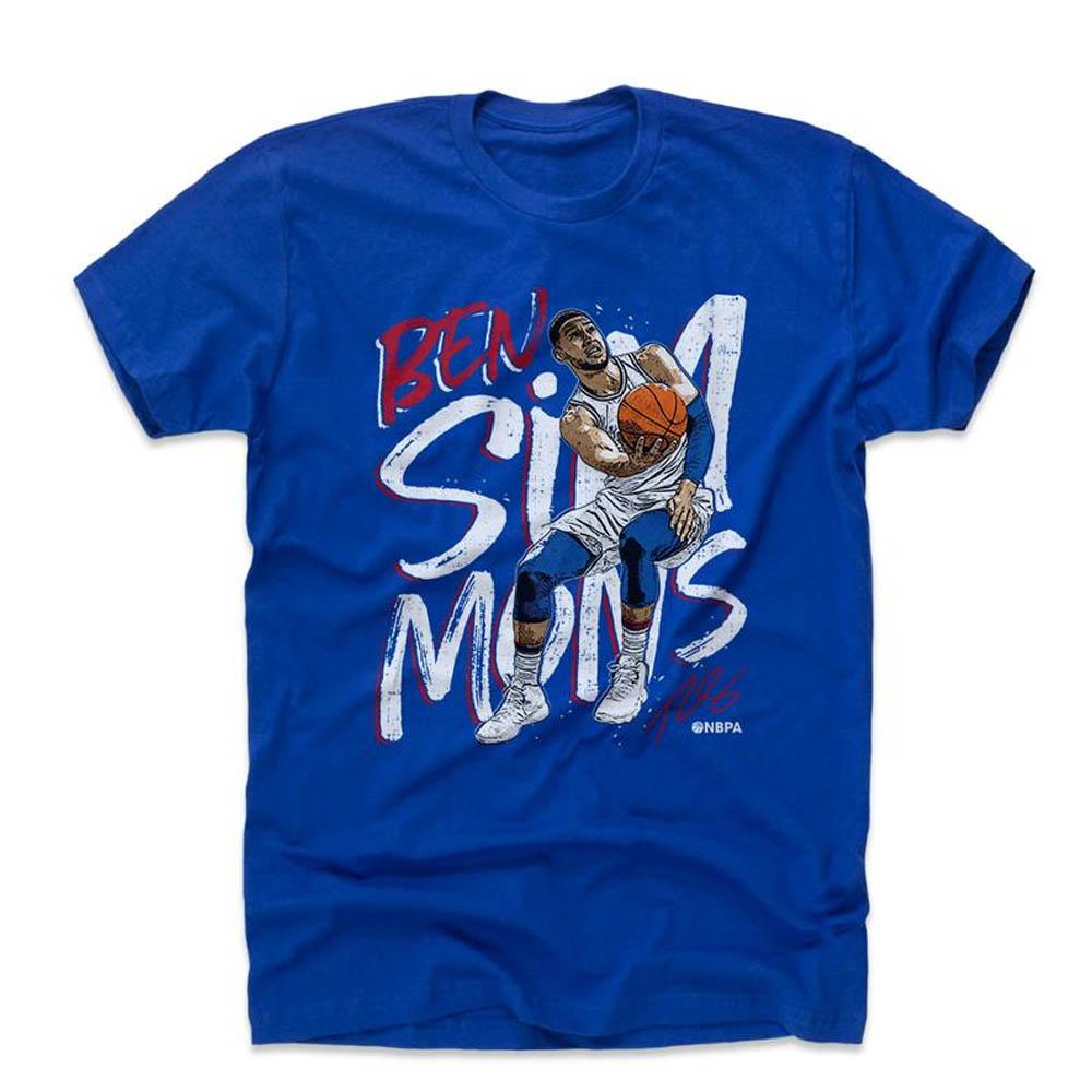 NBA Tシャツ 76ers ベン・シモンズ プレーヤー アート レイアップ 500Level ロイヤルブルー【1910価格変更】【1911NBAt】