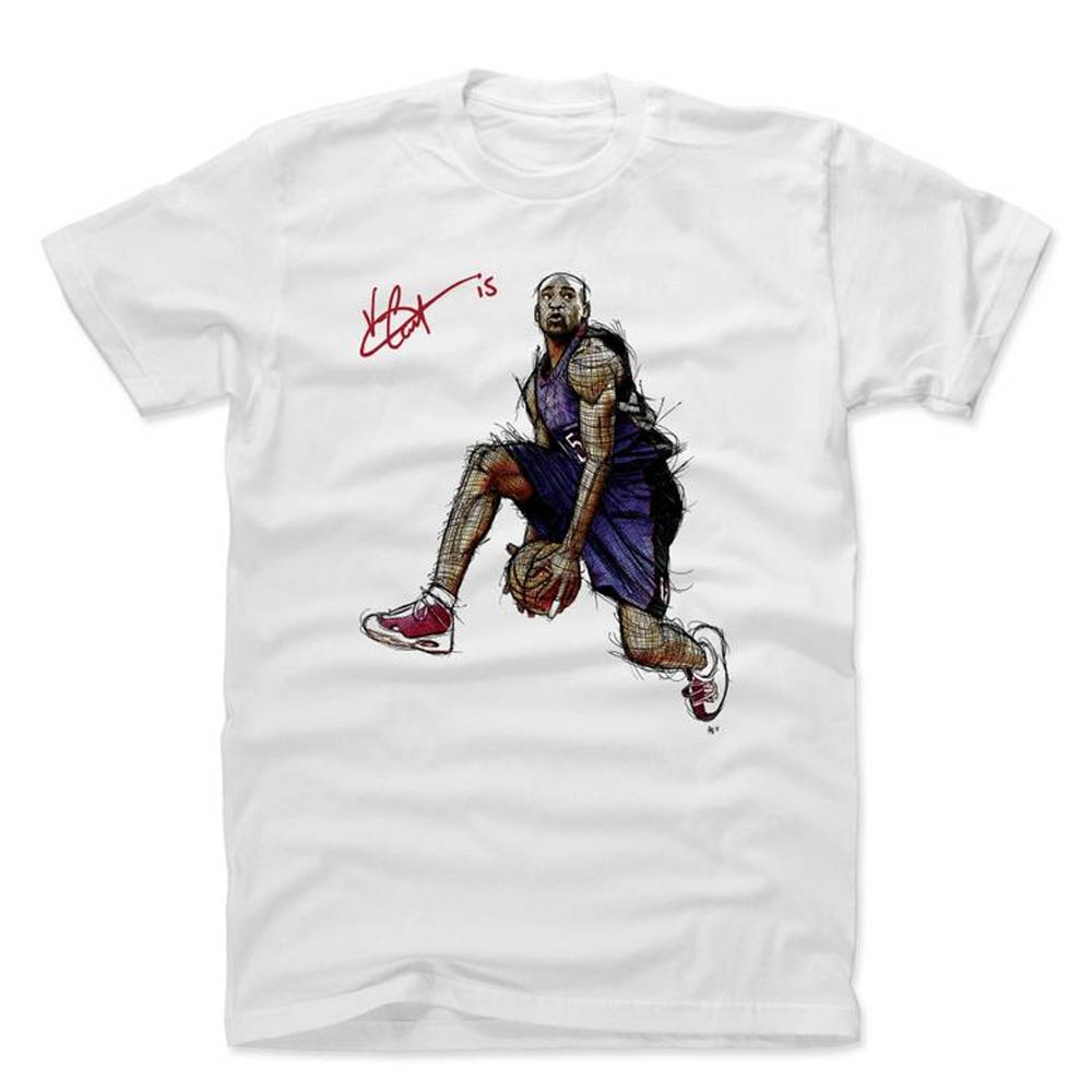 NBA Tシャツ ラプターズ ヴィンス・カーター プレーヤー アート イッツ オーバー シグネチャー 500Level ホワイト【1910価格変更】【1911NBAt】