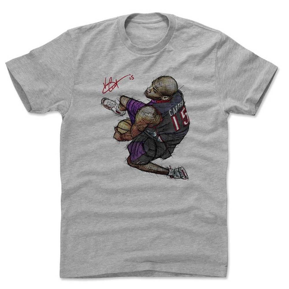 NBA Tシャツ ラプターズ ヴィンス・カーター プレーヤー アート ザ・レッグス ダンク 500Level グレー【1910価格変更】【1911NBAt】