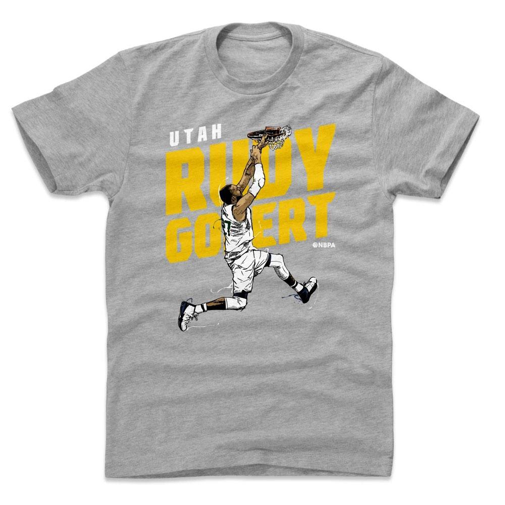 NBA Tシャツ ジャズ ルディ・ゴベール プレーヤー アート スラム 500Level ネイビー【1910価格変更】【1911NBAt】
