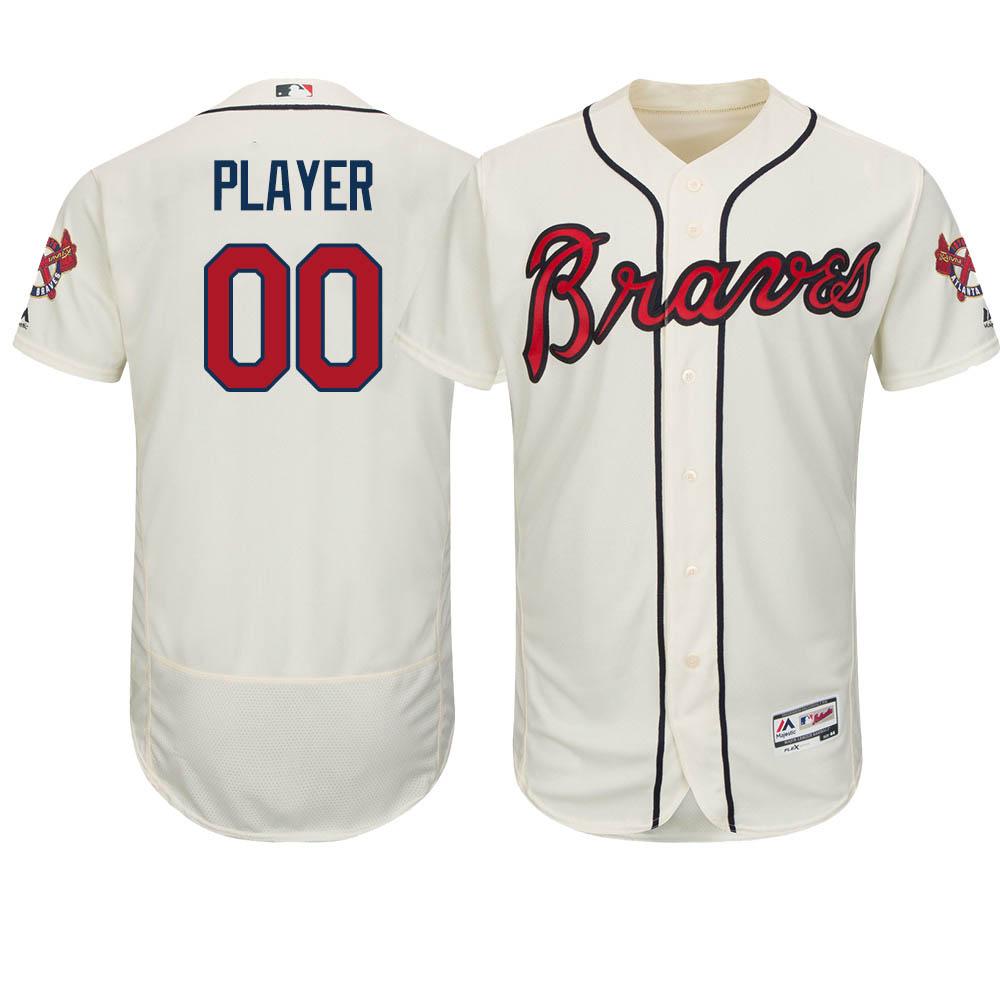 ご予約 お取り寄せ MLB ブレーブス ユニフォーム/ジャージ 選手着用 オーセンティック オルタアイボリー