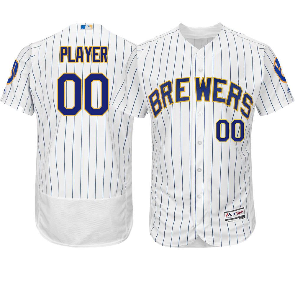 ご予約 お取り寄せ MLB ブリュワーズ ユニフォーム/ジャージ 選手着用 オーセンティック オルタホワイト/ロイヤル