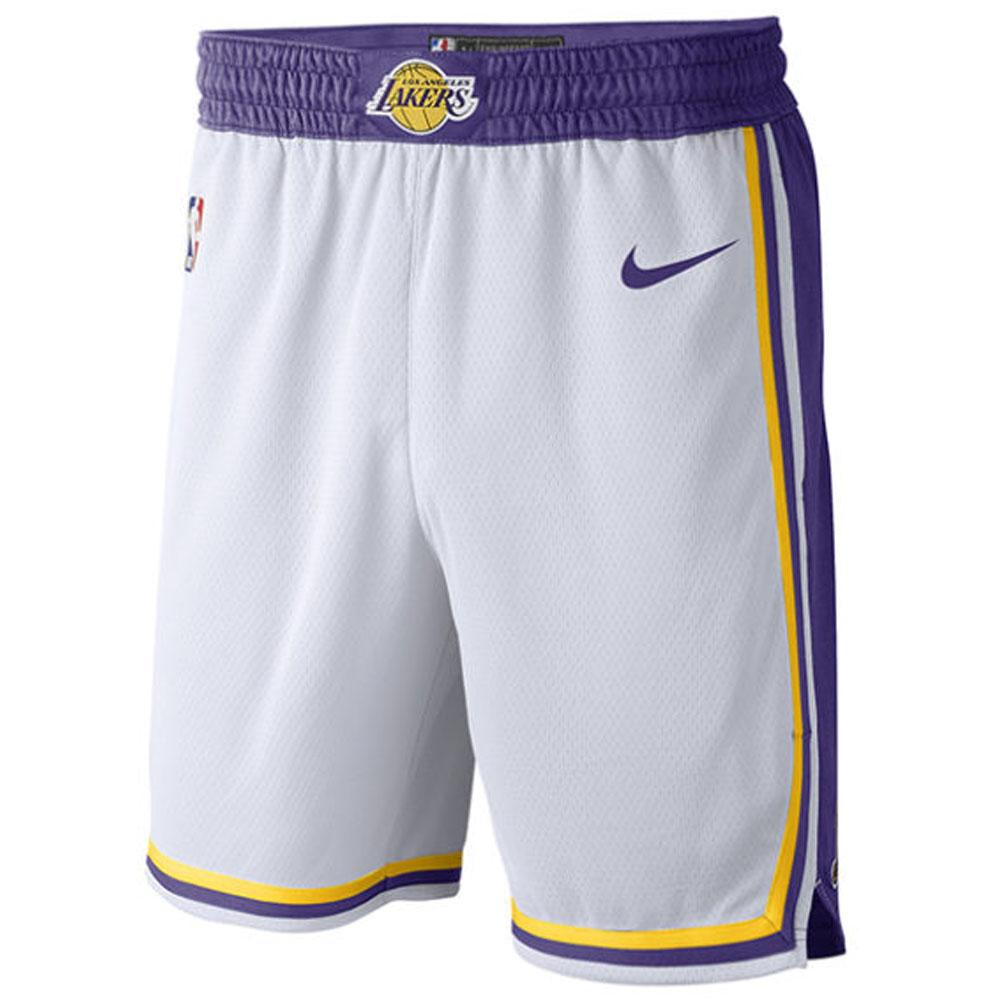 92a7a18a NBA Lakers short pants / shorts swing man 18 Nike /Nike white AJ5616-100 ...