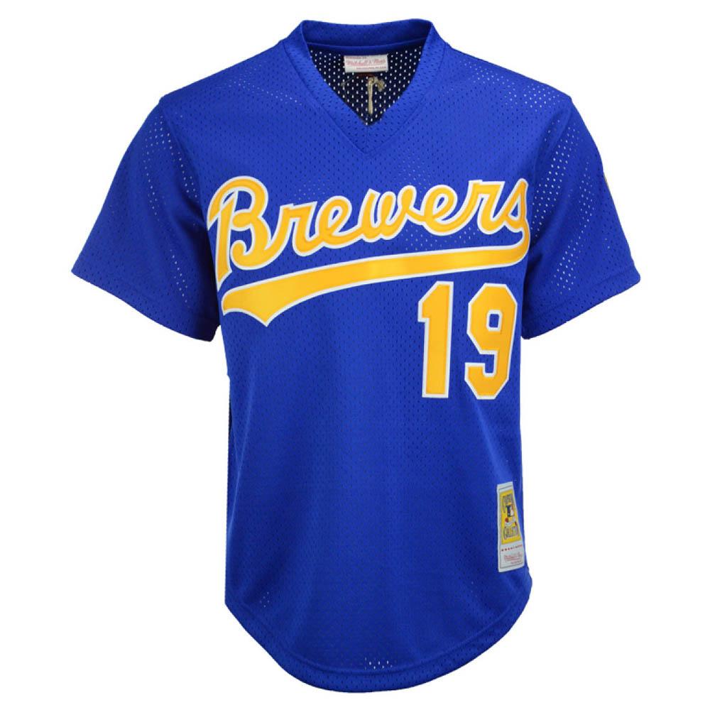 お取り寄せ お取り寄せ MLB ブリュワーズ ロビン・ヤント ユニフォーム/ジャージ Authentic Mesh BP Mitchell & Ness ロイヤル