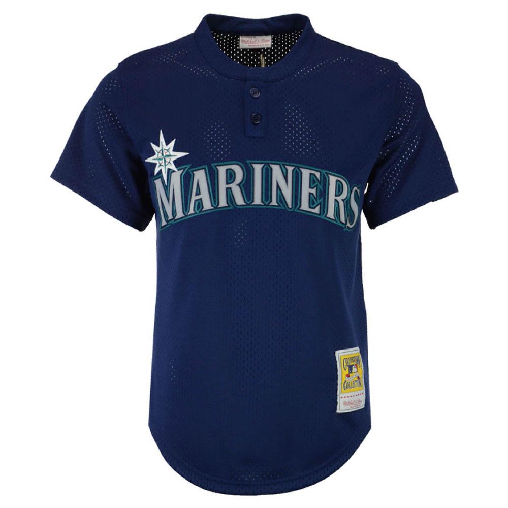 お取り寄せ お取り寄せ MLB マリナーズ ランディ・ジョンソン ユニフォーム/ジャージ Authentic Mesh BP Mitchell & Ness ネイビー