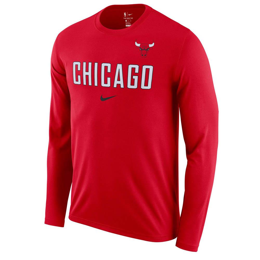 NBA ブルズ ロングTシャツ ドライフィット ファシリティ 長袖 ナイキ/Nike AA0376-657