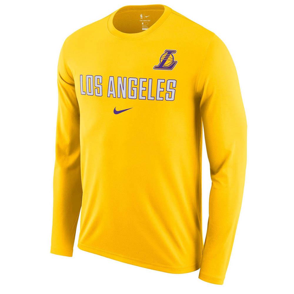 NBA レイカーズ ロングTシャツ ドライフィット ファシリティ 長袖 ナイキ/Nike AA0401-728