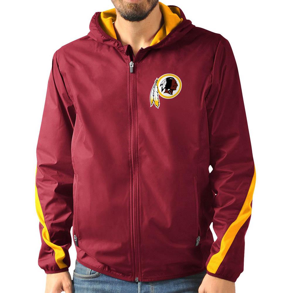 NFL レッドスキンズ ジャケット/アウター エンドゾーン フルジップ G-III レッド
