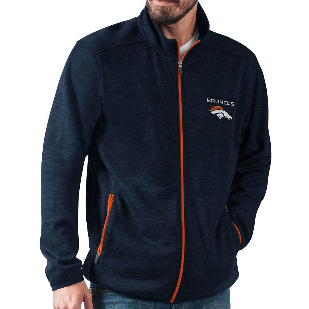 NFL ブロンコス ジャケット/アウター ハイ ジャンプ ブラック フルジップ G-III