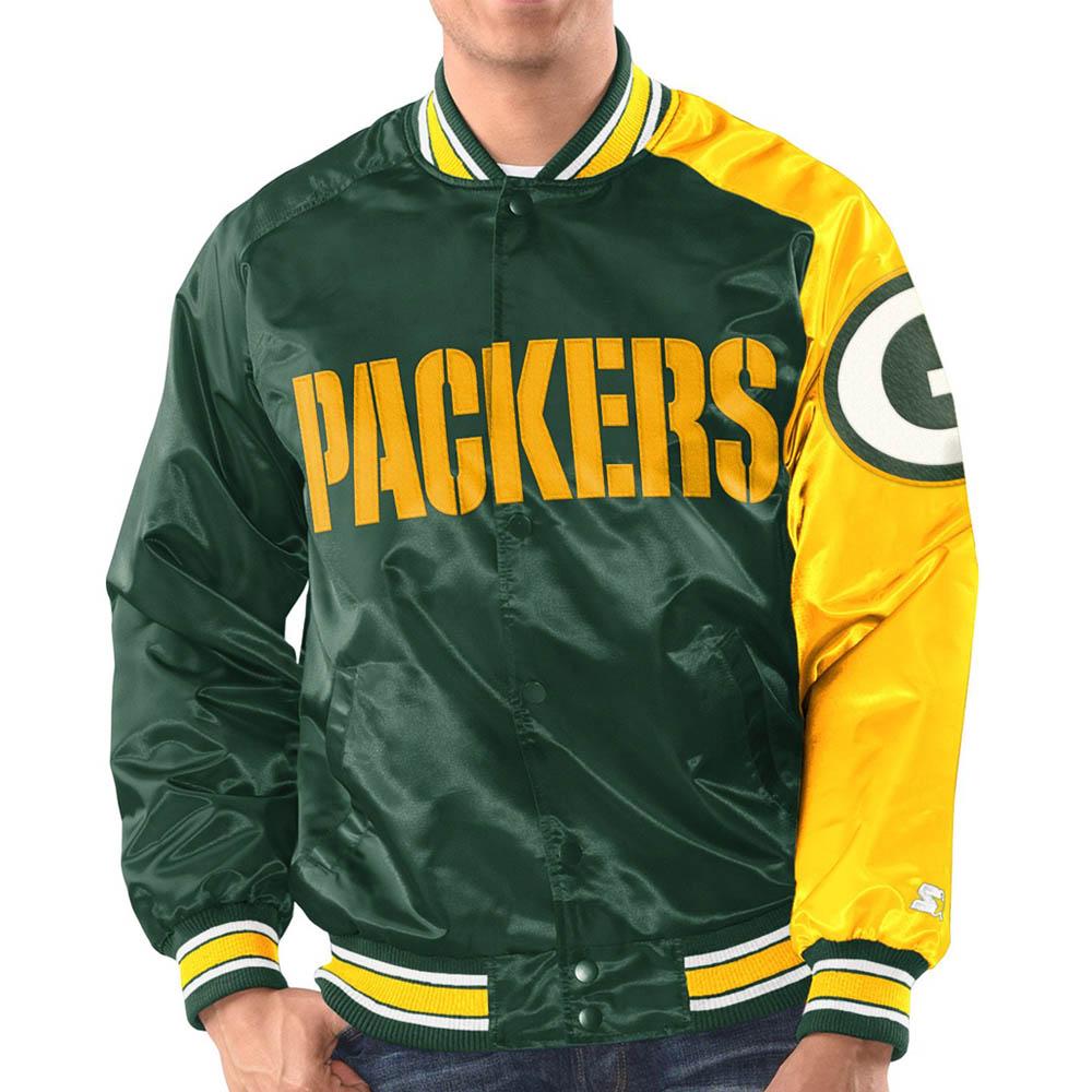 お取り寄せ お取り寄せ NFL パッカーズ ジャケット/アウター サテン STARTER グリーン