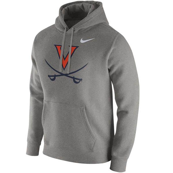お取り寄せ お取り寄せ NCAA バージニア大学 キャバリアーズ パーカー/フーディー クラブ プライマリーロゴ ナイキ/Nike グレー