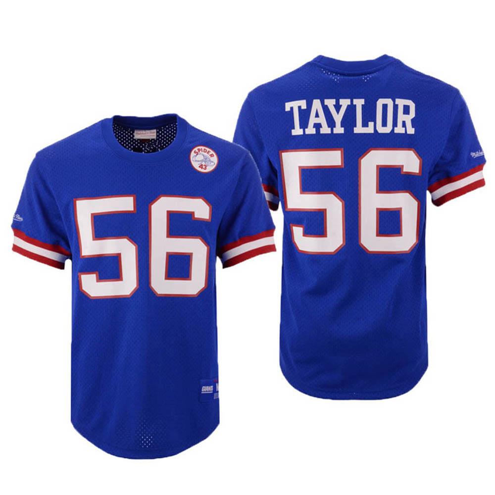 お取り寄せ お取り寄せ NFL ジャイアンツ ローレンス・テイラー ユニフォーム/ジャージ メッシュ クルーネック Mitchell & Ness ロイヤル