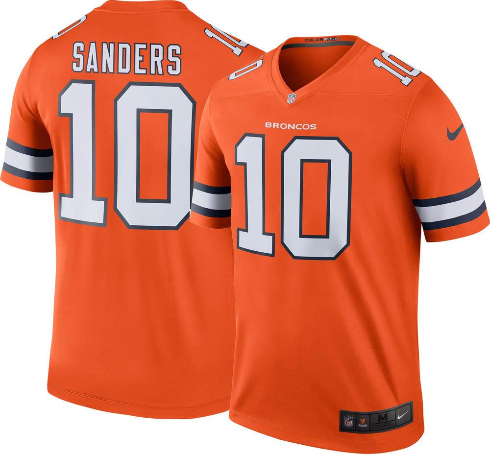 0f9f8006e58 NFL Broncos Emanuel Sanders uniform / jersey color rush legend Nike /Nike  ...