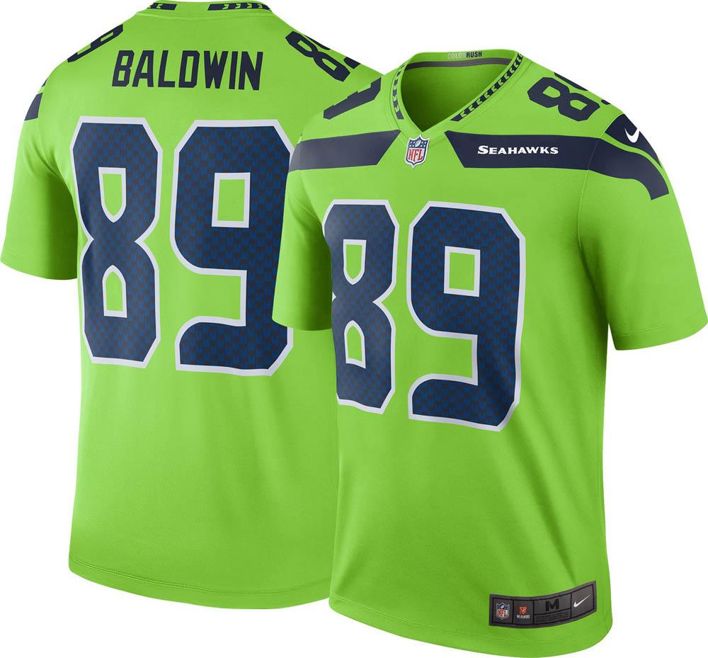 best service fba21 37fa7 NFL Seahawks Doug Baldwin uniform / jersey color rush legend Nike /Nike