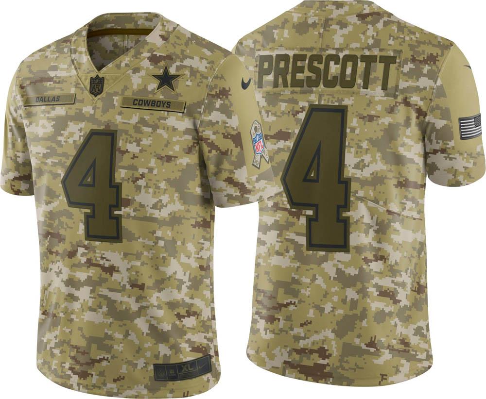 NFL カウボーイズ ダック・プレスコット ユニフォーム/ジャージ Salute to Service リミテッド ナイキ/Nike