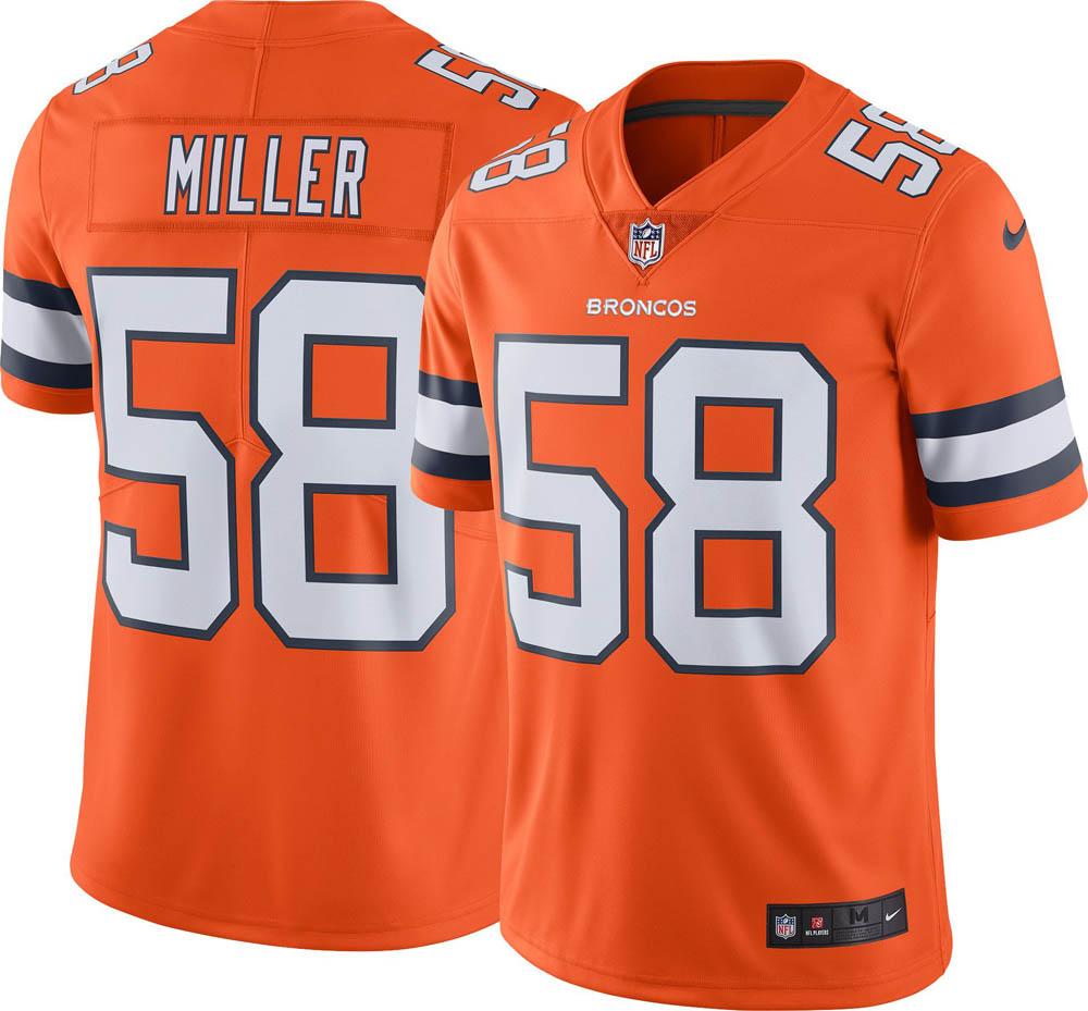 NFL ブロンコス ボン・ミラー ユニフォーム/ジャージ カラーラッシュ リミテッド ナイキ/Nike