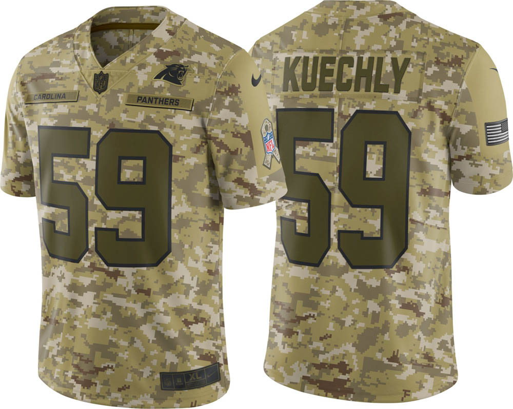 NFL パンサーズ ルーク・キークリー ユニフォーム/ジャージ Salute to Service リミテッド ナイキ/Nike