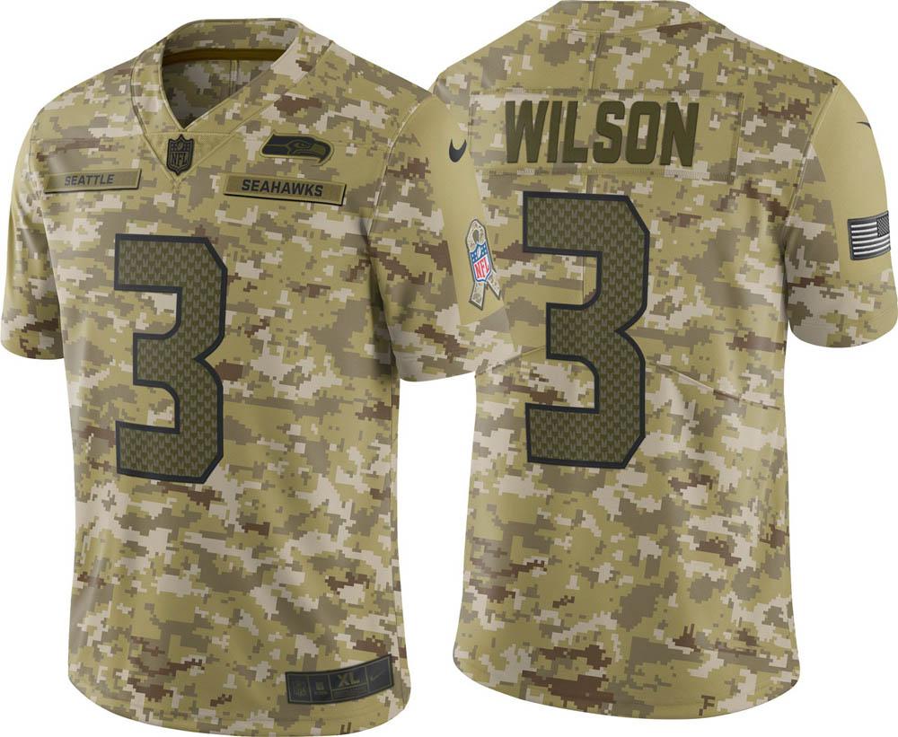 NFL シーホークス ラッセル・ウィルソン ユニフォーム/ジャージ Salute to Service リミテッド ナイキ/Nike