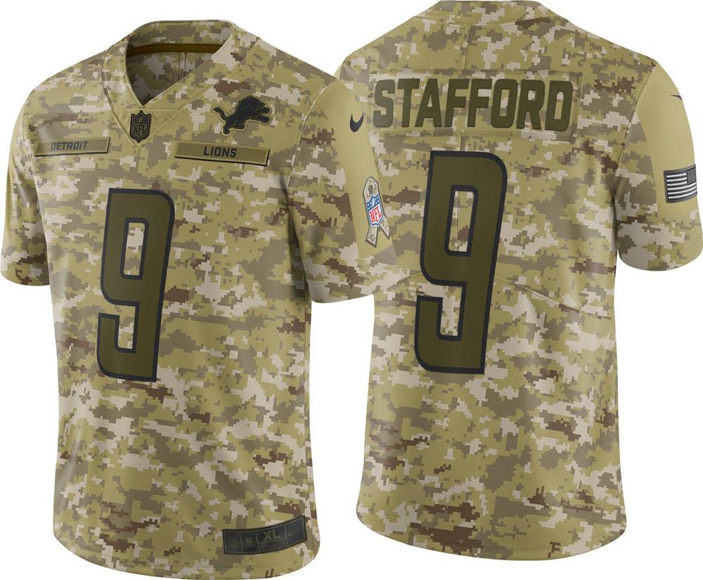 NFL ライオンズ マシュー・スタッフォード ユニフォーム/ジャージ Salute to Service リミテッド ナイキ/Nike