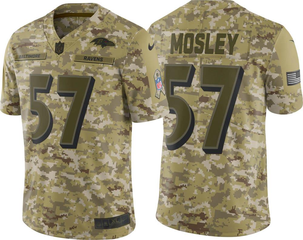 NFL レイブンズ C. J・モズリー ユニフォーム/ジャージ Salute to Service リミテッド ナイキ/Nike