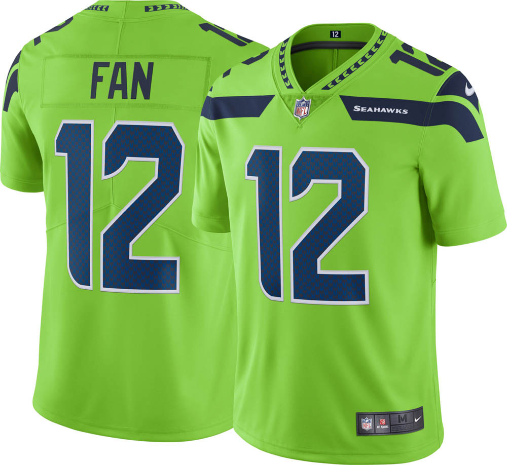 best sneakers 41864 d4710 Order order NFL Seahawks 12th fan uniform / jersey color rush limited Nike  /Nike
