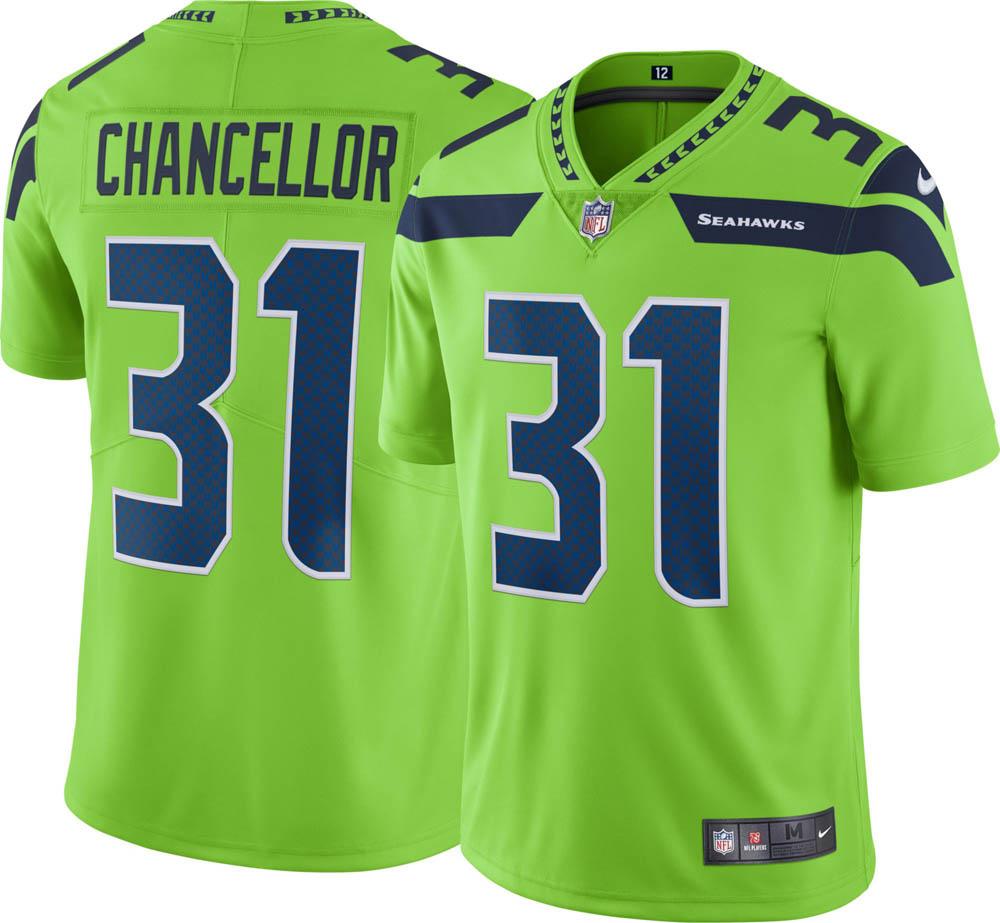 NFL シーホークス カム・チャンセラー ユニフォーム/ジャージ カラーラッシュ リミテッド ナイキ/Nike