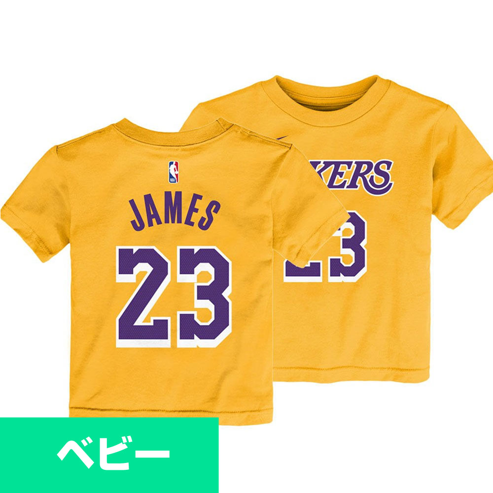 factory price 34e74 4b1b7 NBA Lakers Revlon James T-shirt baby icon edition name & number Nike /Nike  yellow