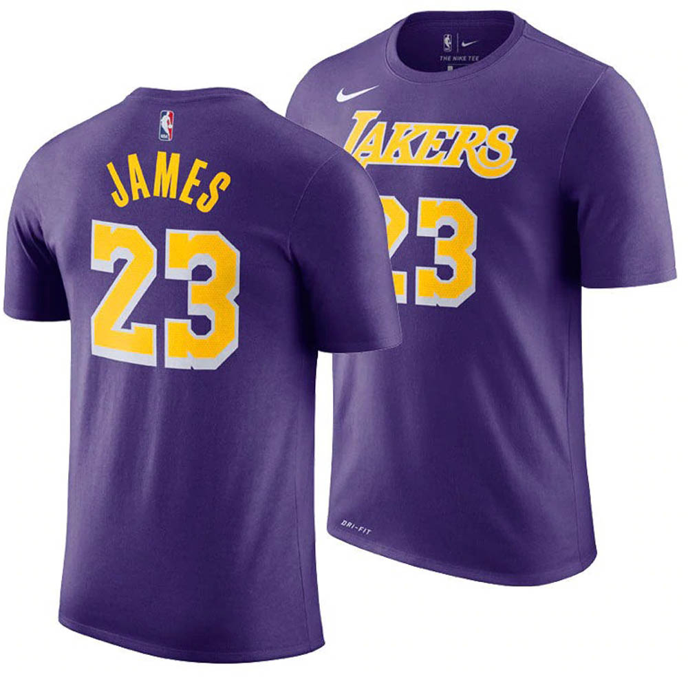 cb542264 MLB NBA NFL Goods Shop: NBA Lakers Revlon James T-shirt statement edition  name & number Nike /Nike purple | Rakuten Global Market