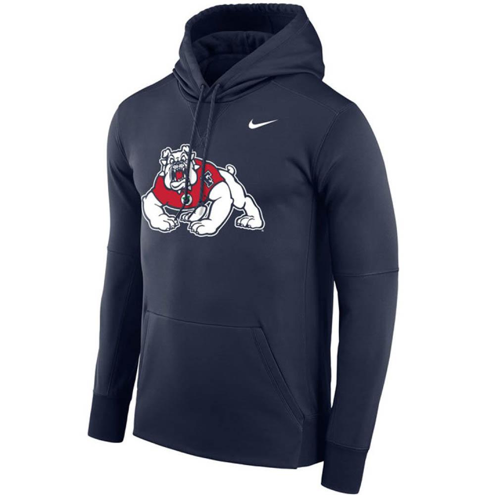 お取り寄せ お取り寄せ NCAA カリフォルニア州立大学 ブルドッグス パーカー/フーディー サーマ ロゴ ナイキ/Nike ネイビー