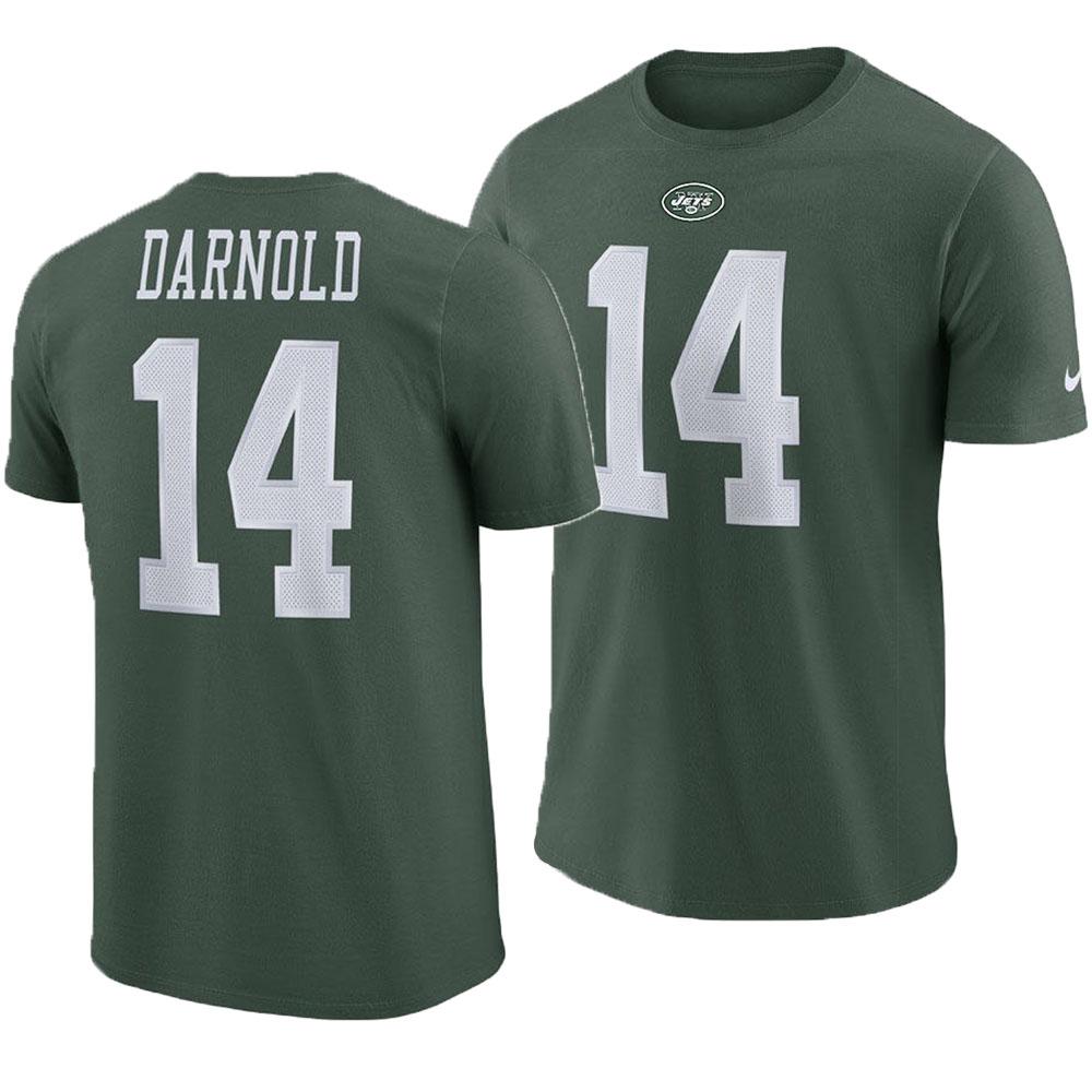 王道のNIKE製 NFLネーム ナンバーTシャツ NFL ジェッツ サム ダーノルド Tシャツ 新作送料無料 ネーム Nike 日本未発売 プレイヤー ナイキ ナンバー グリーン プライド