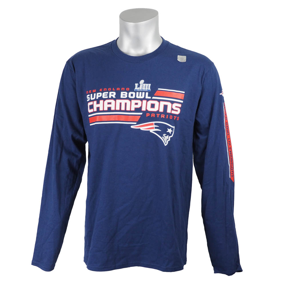 ご予約 NFL ペイトリオッツ Tシャツ 第53回スーパーボウル 優勝記念 ジューク・ウィズ・スリーブ 長袖【1910価格変更】