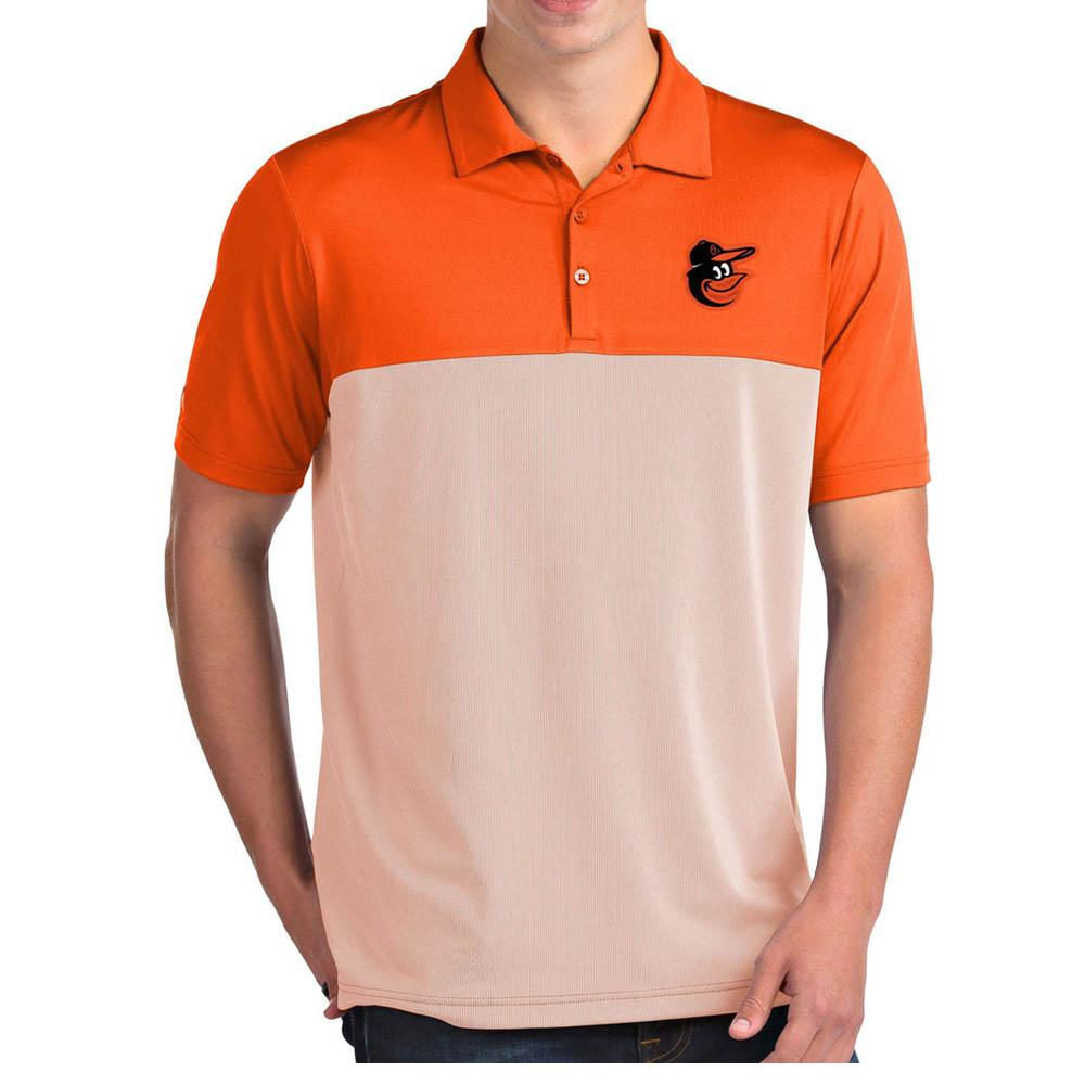 お取り寄せ MLB オリオールズ ポロシャツ ベンチャー パフォーマンス メンズ Antigua オレンジ