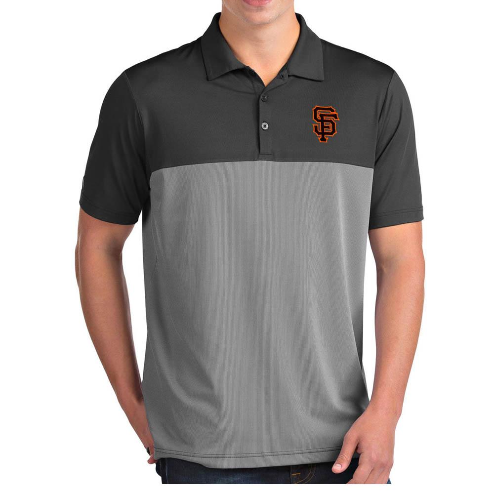 MLB ジャイアンツ ポロシャツ ベンチャー パフォーマンス メンズ Antigua グレー