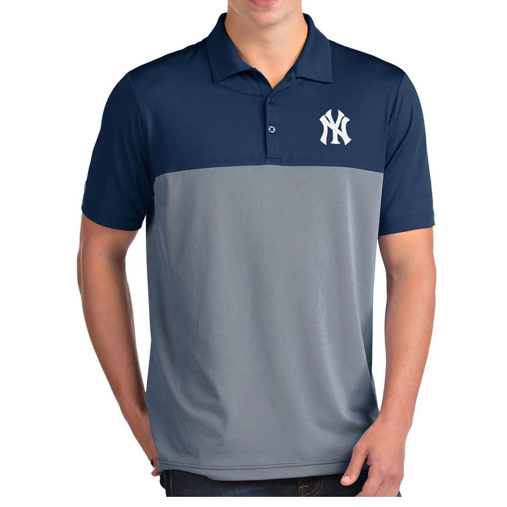 MLB ヤンキース ポロシャツ ベンチャー パフォーマンス メンズ Antigua ネイビー