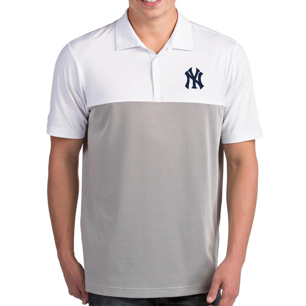 MLB ヤンキース ポロシャツ ベンチャー パフォーマンス メンズ Antigua ホワイト