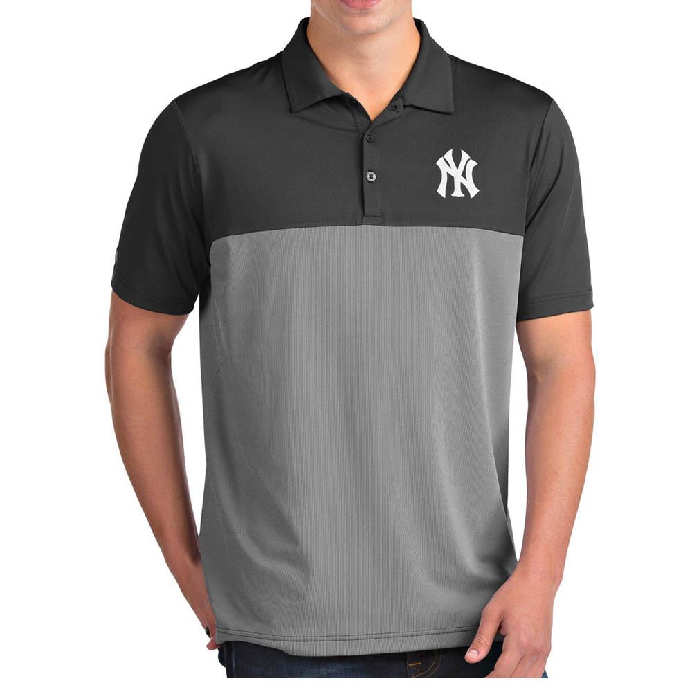 MLB ヤンキース ポロシャツ ベンチャー パフォーマンス メンズ Antigua グレー