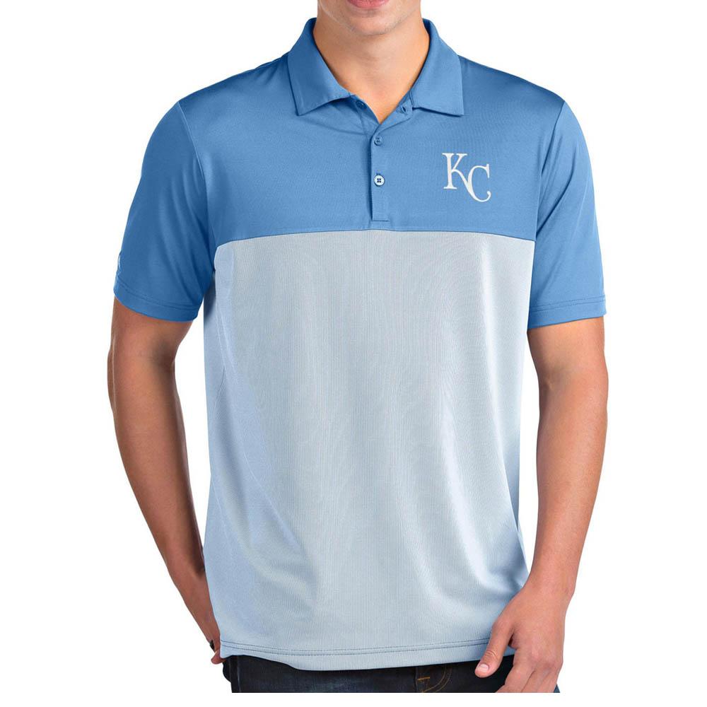 お取り寄せ MLB ロイヤルズ ポロシャツ ベンチャー パフォーマンス メンズ Antigua ライトブルー